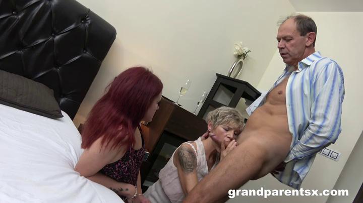 Old Couple Having Fun With A Teen Callgirl