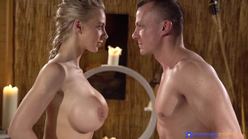 [MassageRooms] Nathaly Cherie – (Sensual slick sex with busty blonde)